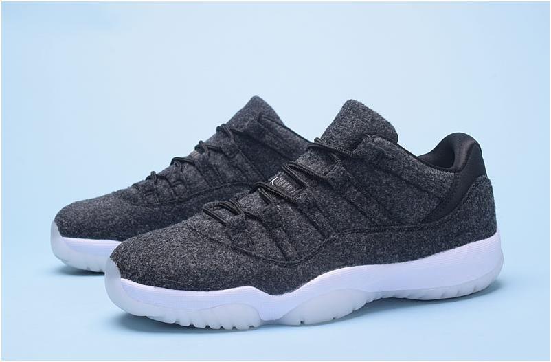 e3c63be5e062 Nike Air Jordan XI 11 Low Wolf Grey White Men Shoes1