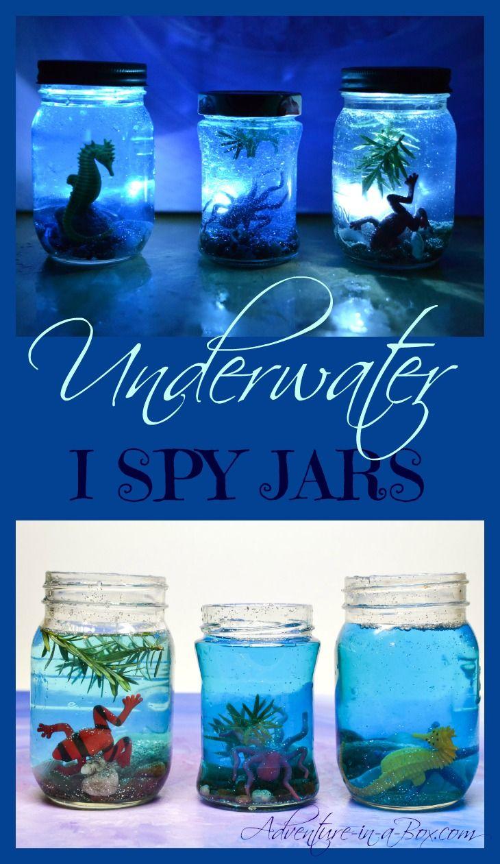 Underwater I Spy Jars   Junk Play   Pinterest   Spy games, Summer ...