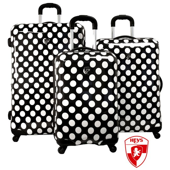 Heys USA Exotic Polka Dot 3-piece Hardside Spinner Luggage Set ...