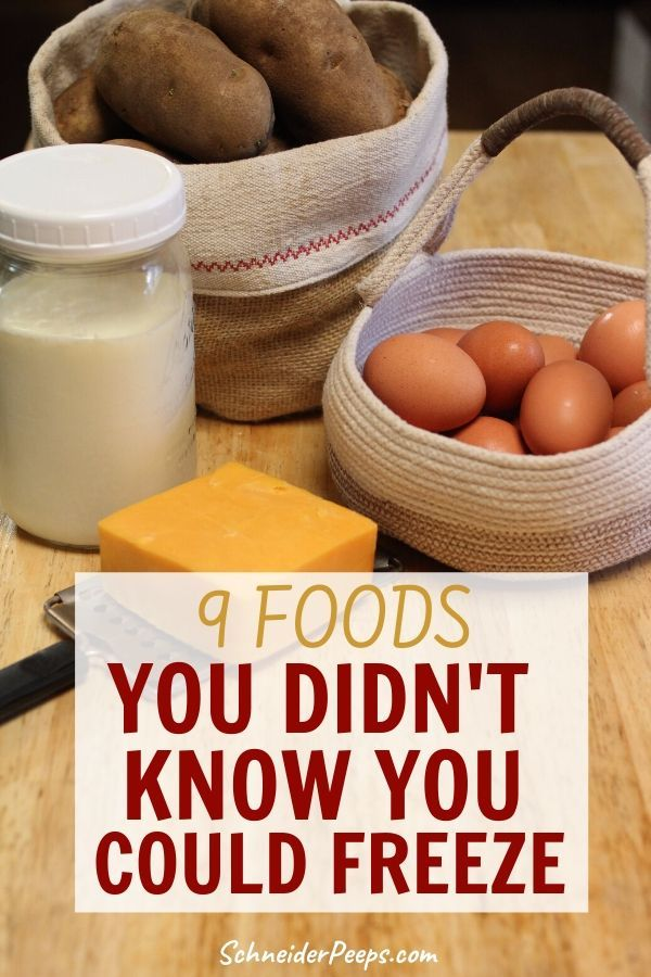 9 Foods You Can Freeze to save money and time in the kitchen