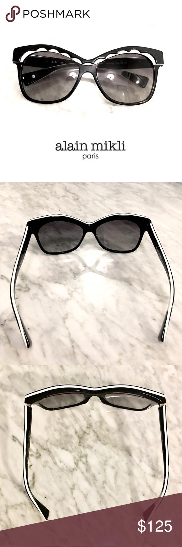 Alain Mikli Scalloped Oval Frame Sunglasses