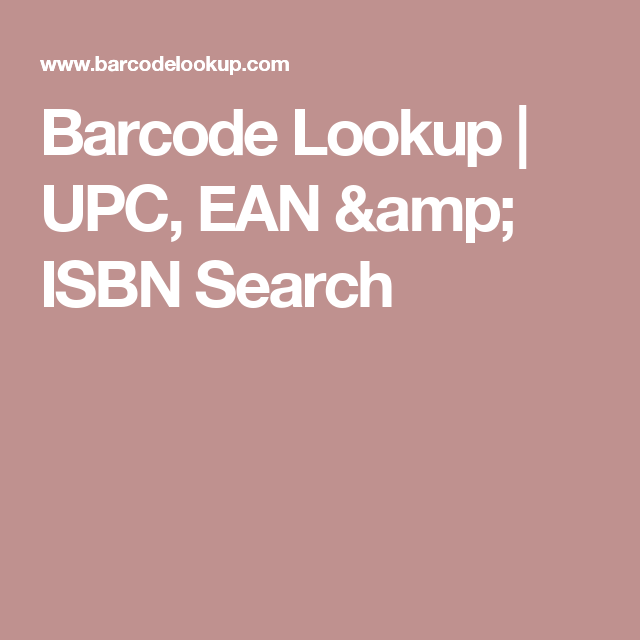 Barcode Lookup | UPC, EAN & ISBN Search | Cool Stuff | Online