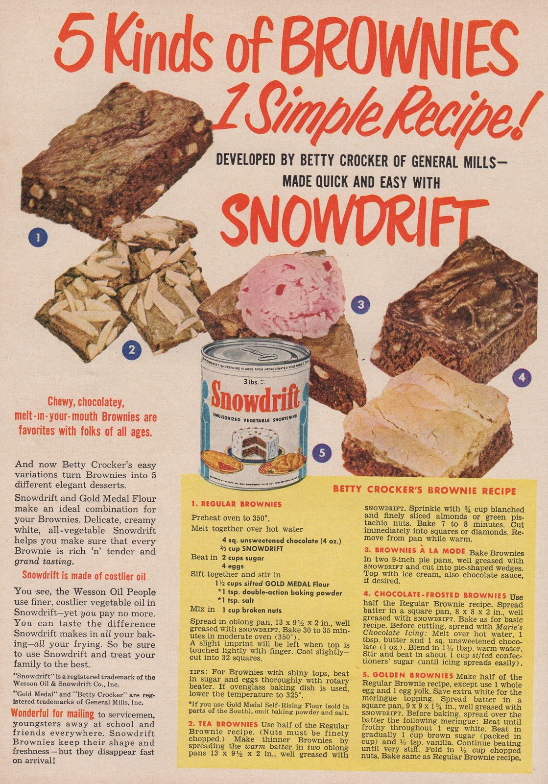 SunsetOctober1951snowdrift | Brownie recipe from Betty Crock… | Flickr