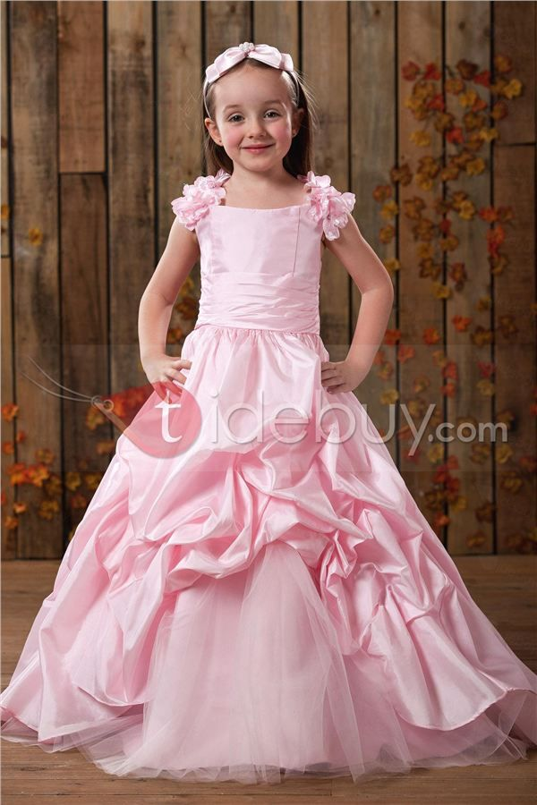 Elegante Vestido de Damita Ball Gown Largo al Piso con Capas con ...