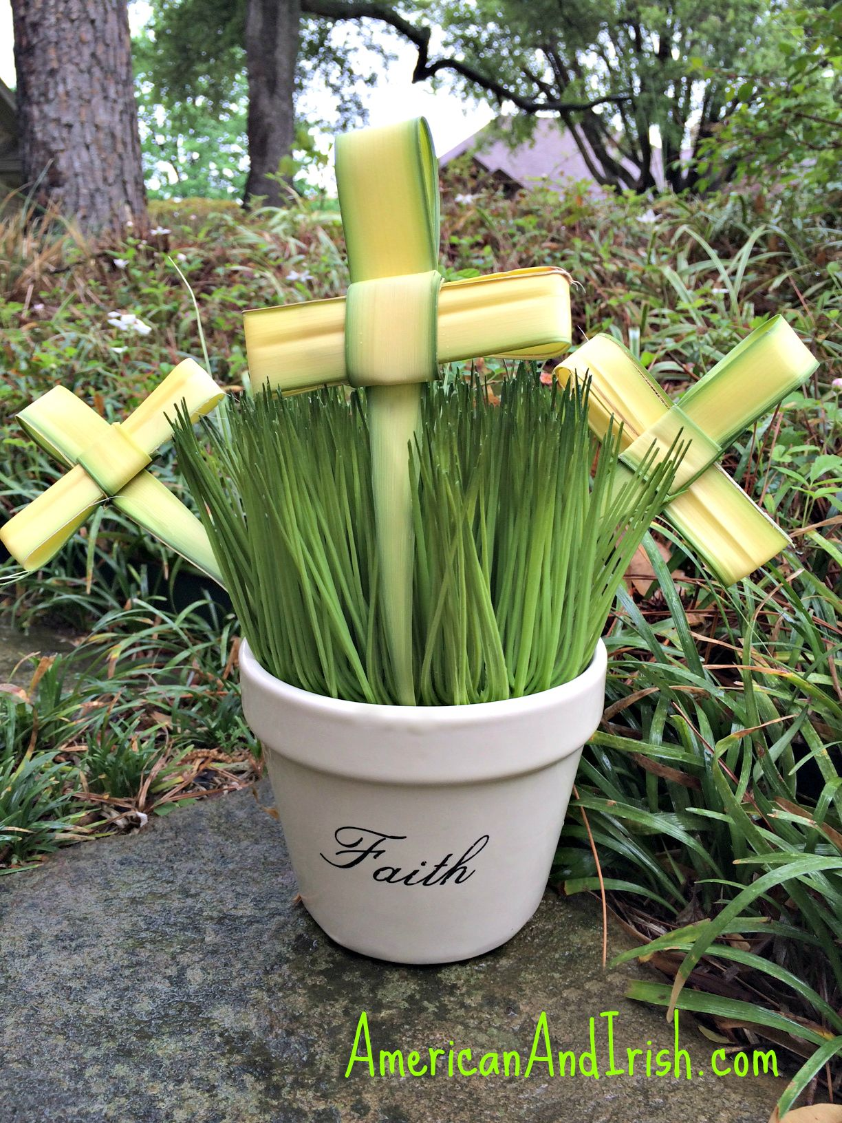How To Fold The Palms From Church Into A Cross
