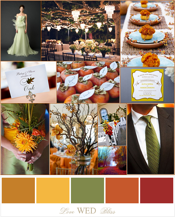 wedding colors for fall love wed bliss board wedding fall color - Fall Colors For A Wedding