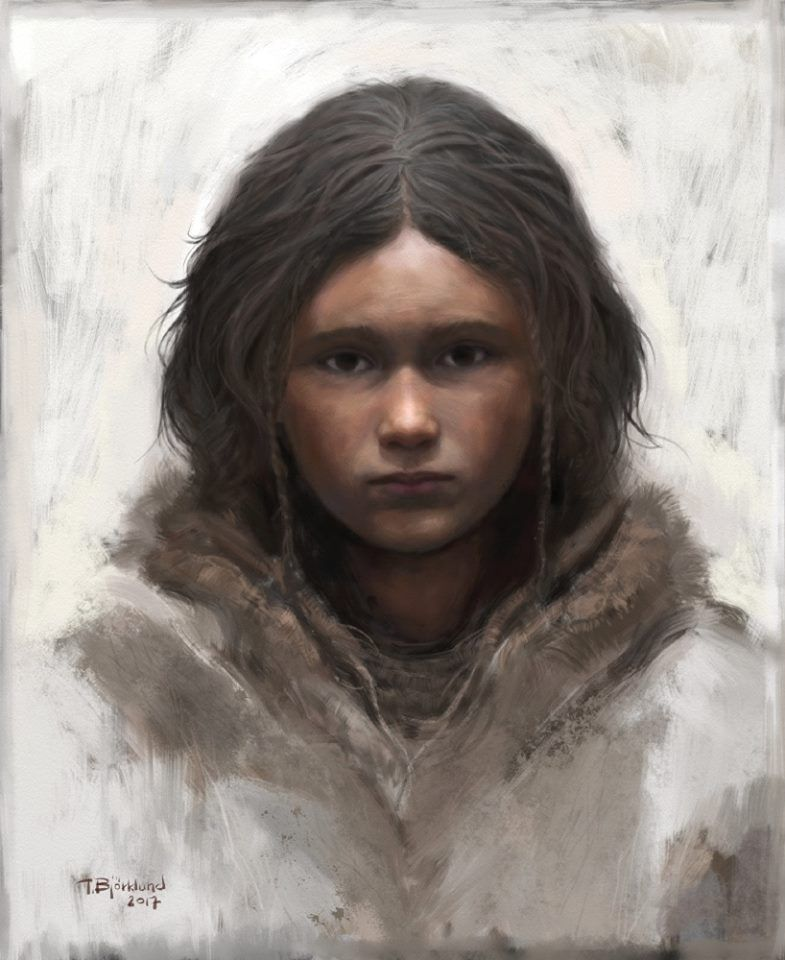 Depiction Of A Stone Age Child By Tom Bjorklund Ancient People