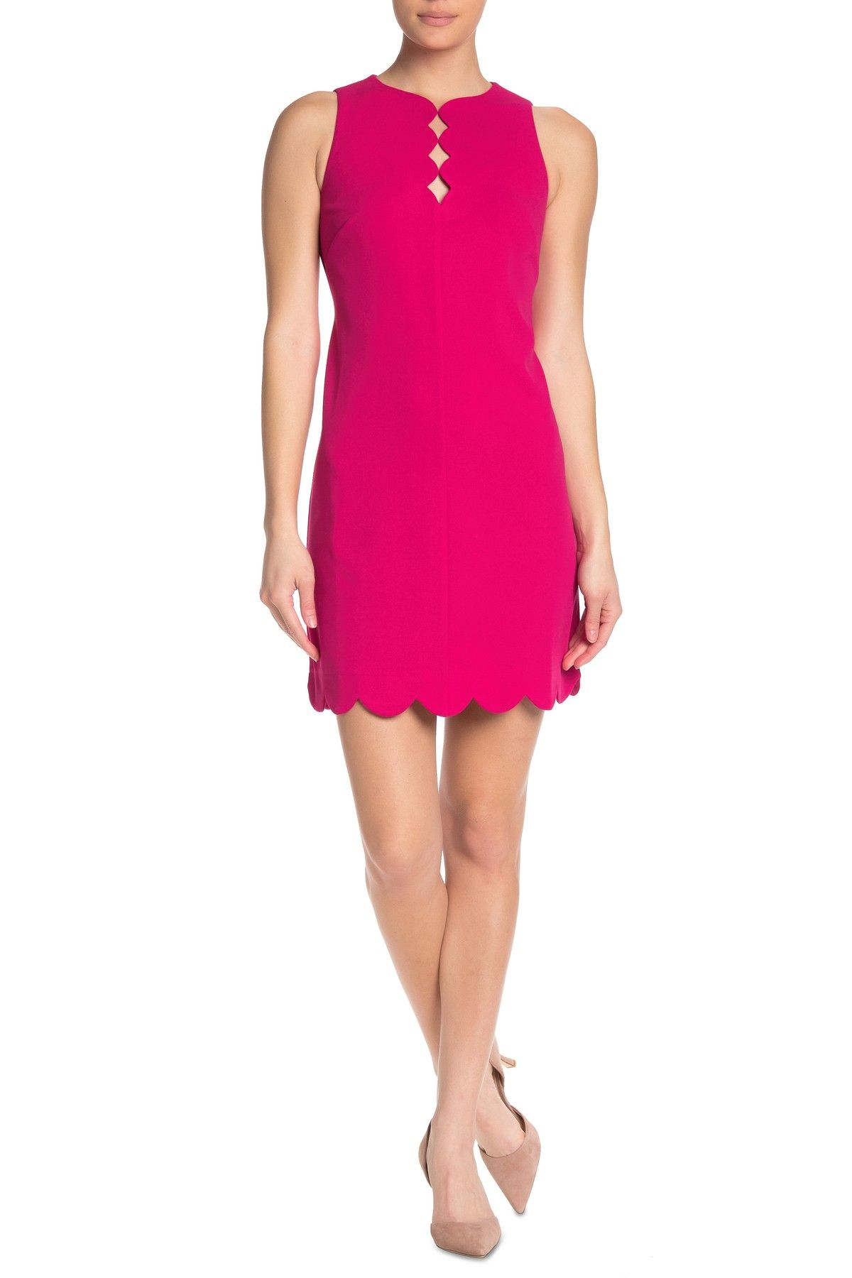 Vince Camuto Scalloped Cutout Hem Sleeveless Dress Nordstrom Rack Professional Dresses Summer Fashion Outfits Dresses [ 1800 x 1200 Pixel ]