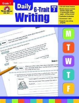 Daily 6-Trait Writing, Grade 7: Evan Moor: