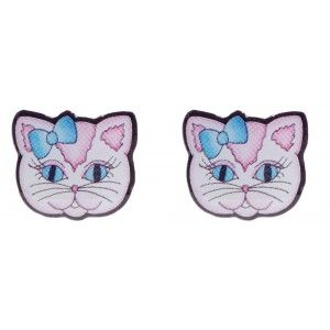 JUBLY UMPH SWEET KITTY STUD EARRINGS