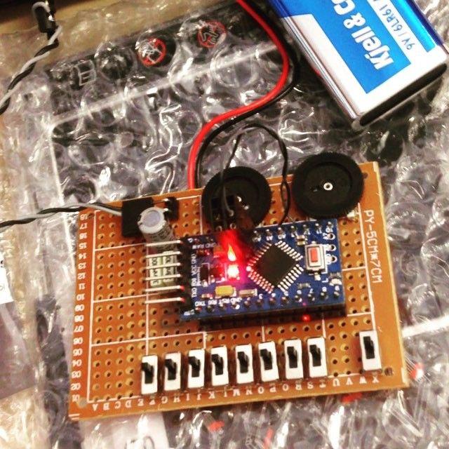 Lunch break Arduino drum machine  The O2 Minipops by Jan Östman