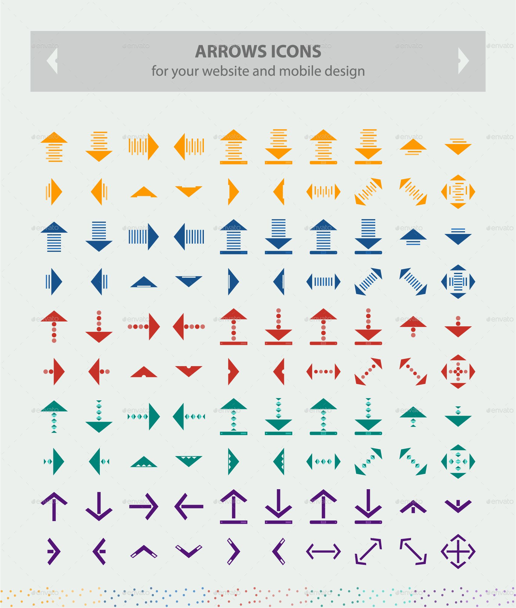Directions Arrows Icons (Part1) This pack contains 600