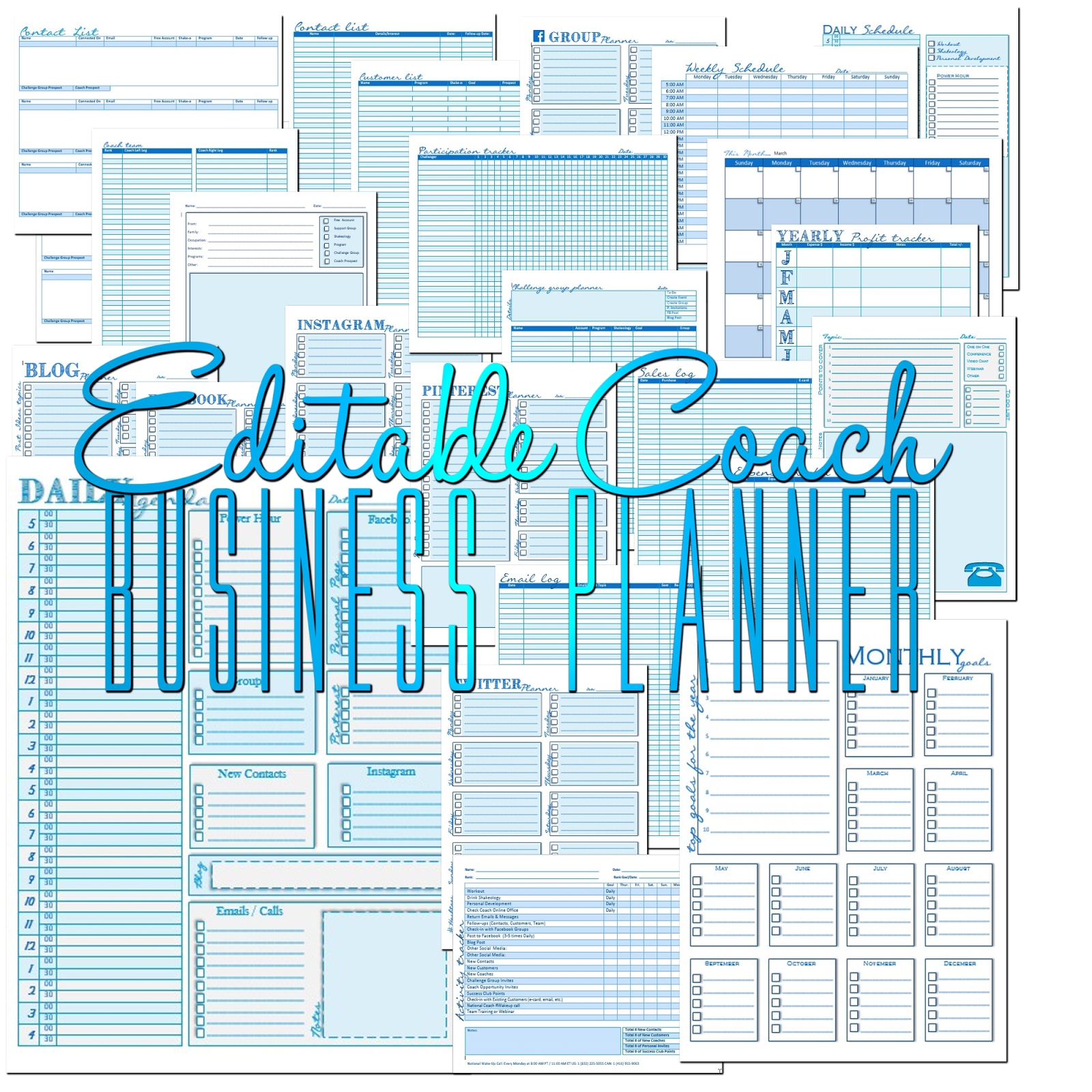 Edit Able Coach Business Planner With Images