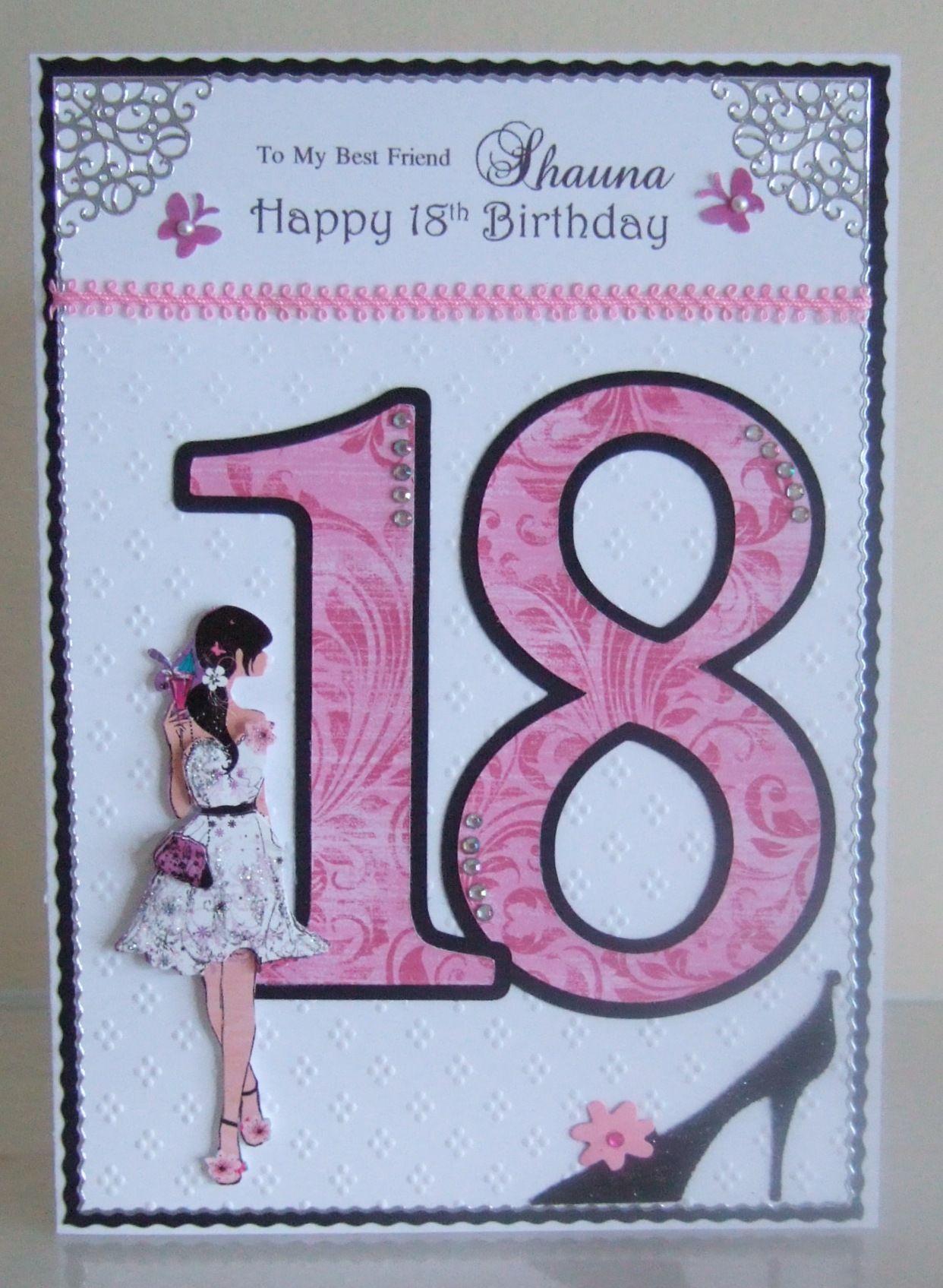 18th Birthday Card 18th Birthday Cards Girl Birthday Cards Creative Cards