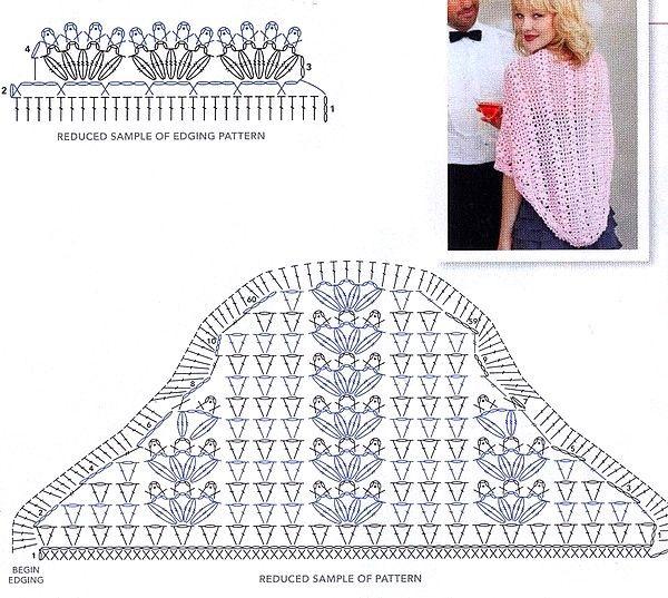 Patrones de Chales en Crochet para Fiestas Vamos a ver 23 modelos de ...
