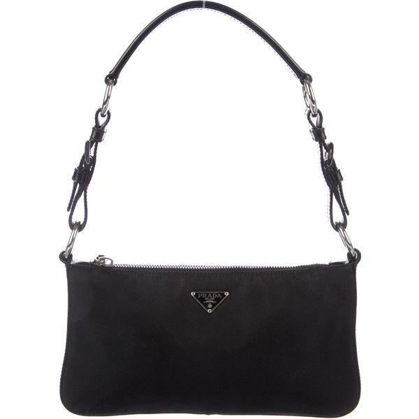 70d66c510363 Pre-owned Prada Tessuto Mini Shoulder Bag (€115) ❤ liked on Polyvore  featuring bags