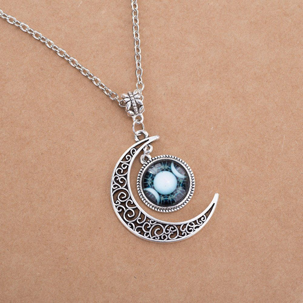 Triple moon goddess pendant necklace witch aesthetic pinterest triple moon goddess pendant necklace aloadofball Image collections
