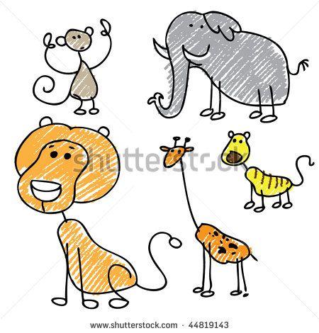 Stick Figure Animals Animals Wild Wild Animals Pictures Animal Crafts