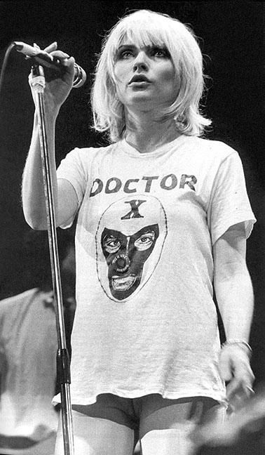 Blow this picture up of Debbie Harry. Am I seeing what I think I'm seeing above those high top boots? Geez Debbie!