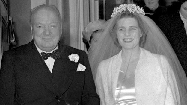 Lady Soames S Wedding 1947 Churchill Winston Churchill