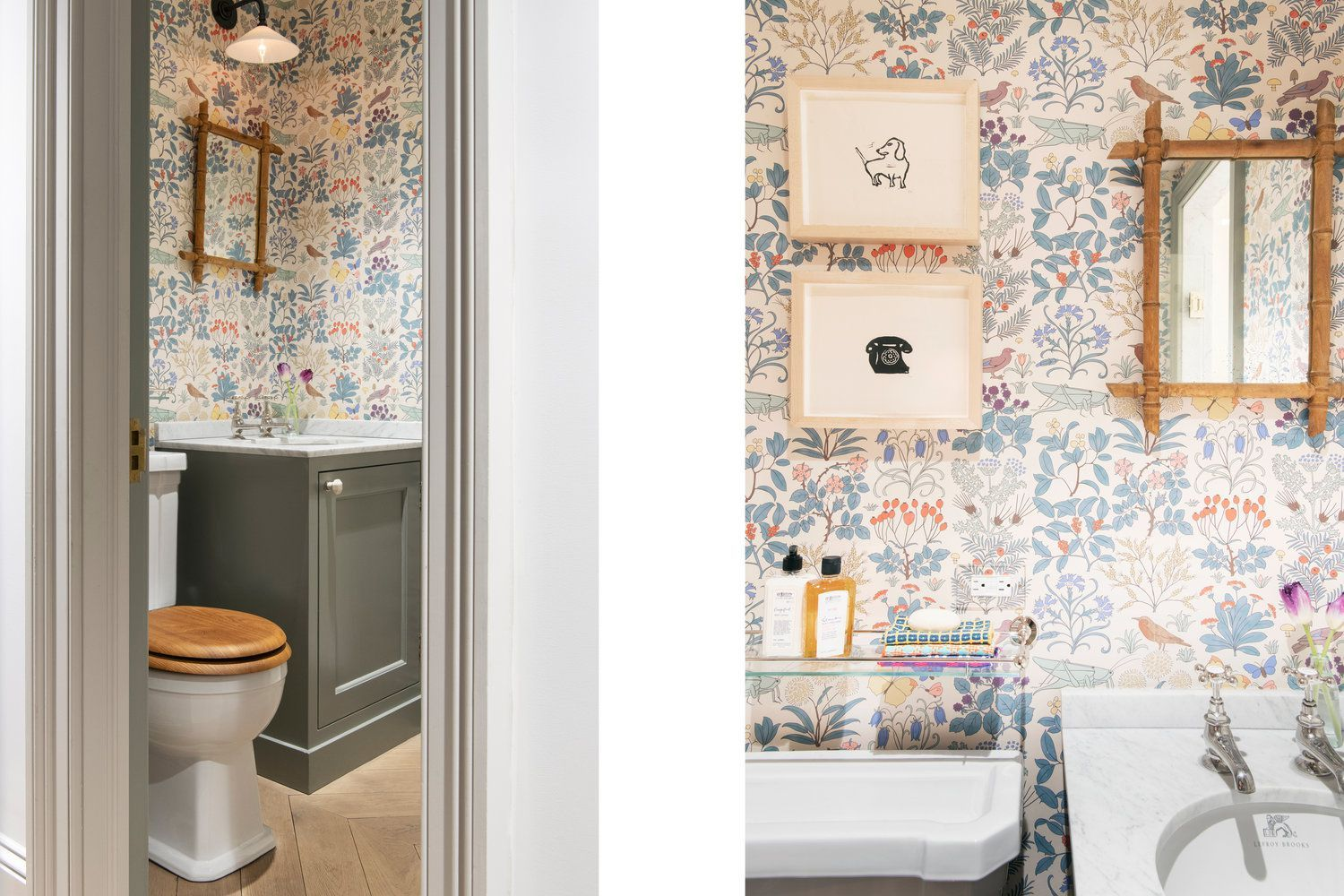 These Chic Wallpapered Bathrooms Will Convince You To Take The Plunge Bathroom Wallpaper Chic Wallpaper Brooklyn Heights