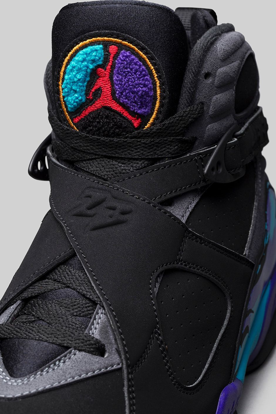 Air Jordan 8 Aqua Colorway: Black/Bright Concord-Aqua Tone Release Date:  November 2015