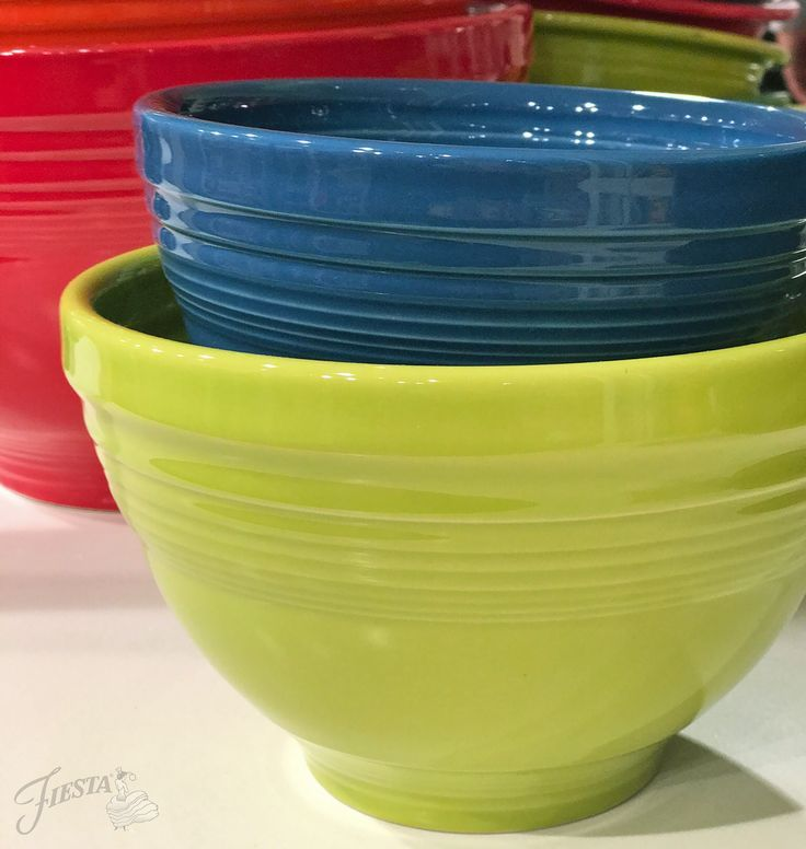 Fiesta Dinnerware mixing bowls in 3 different color waves. Learn ...