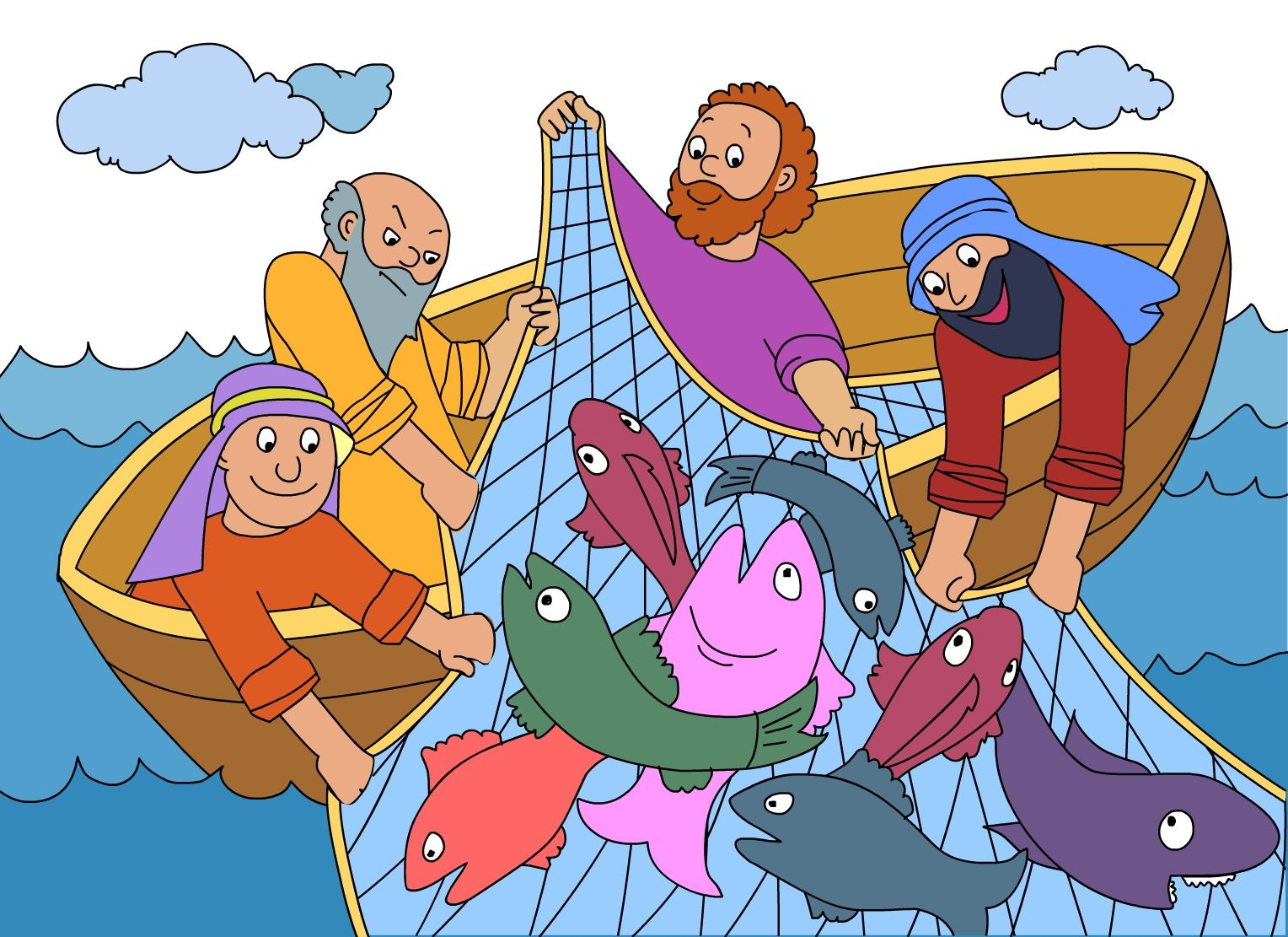 This Is The Net Full Of Fish Bible Story And Activities Of
