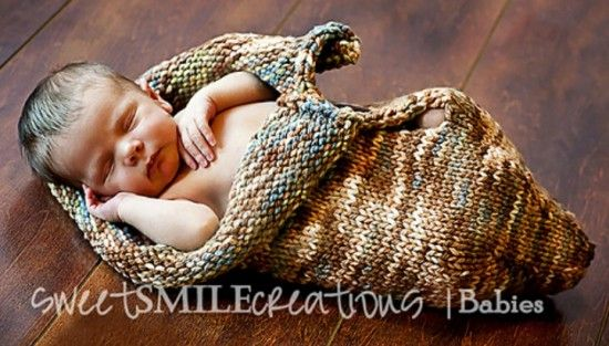 Diy Knit Baby Cocoons Free Patterns Knitting Baby Blankets