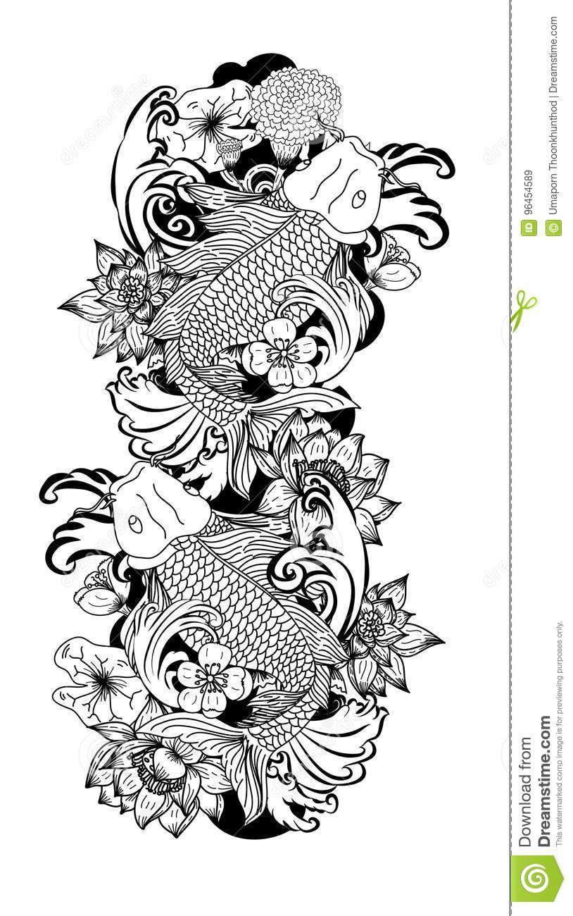 What you think Fish vector, Japanese fish tattoo, Koi