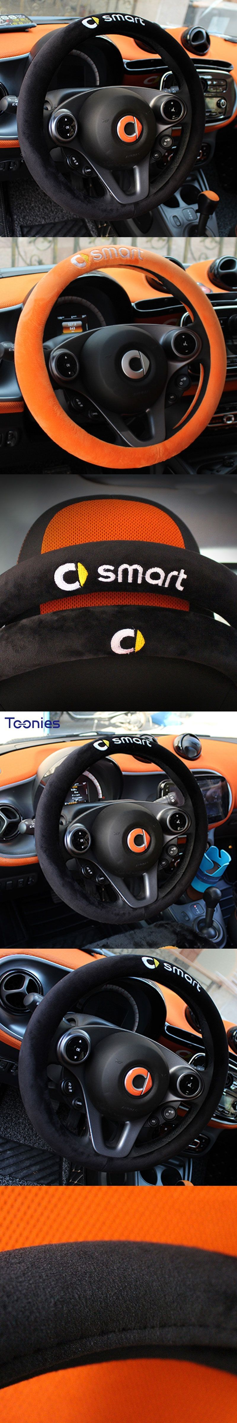 Winter Soft Plush Car Steering Wheel Cover Smart Fortwo Anti