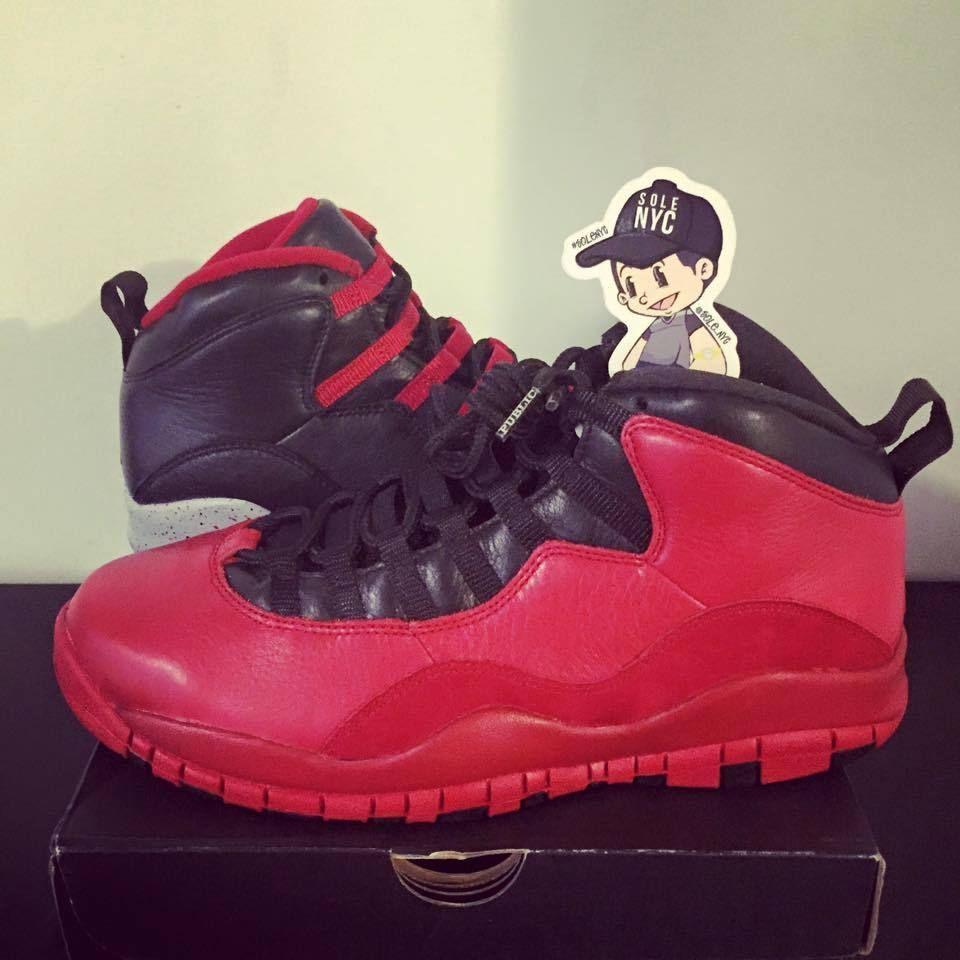 Nike Air Jordan 10 PSNY Public School Red + Black AJ10-537509 Size 12 FNF  Sample in Clothing f68eff07b