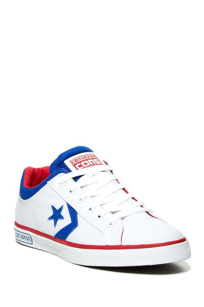 Converse Mens Shoes Blue Red