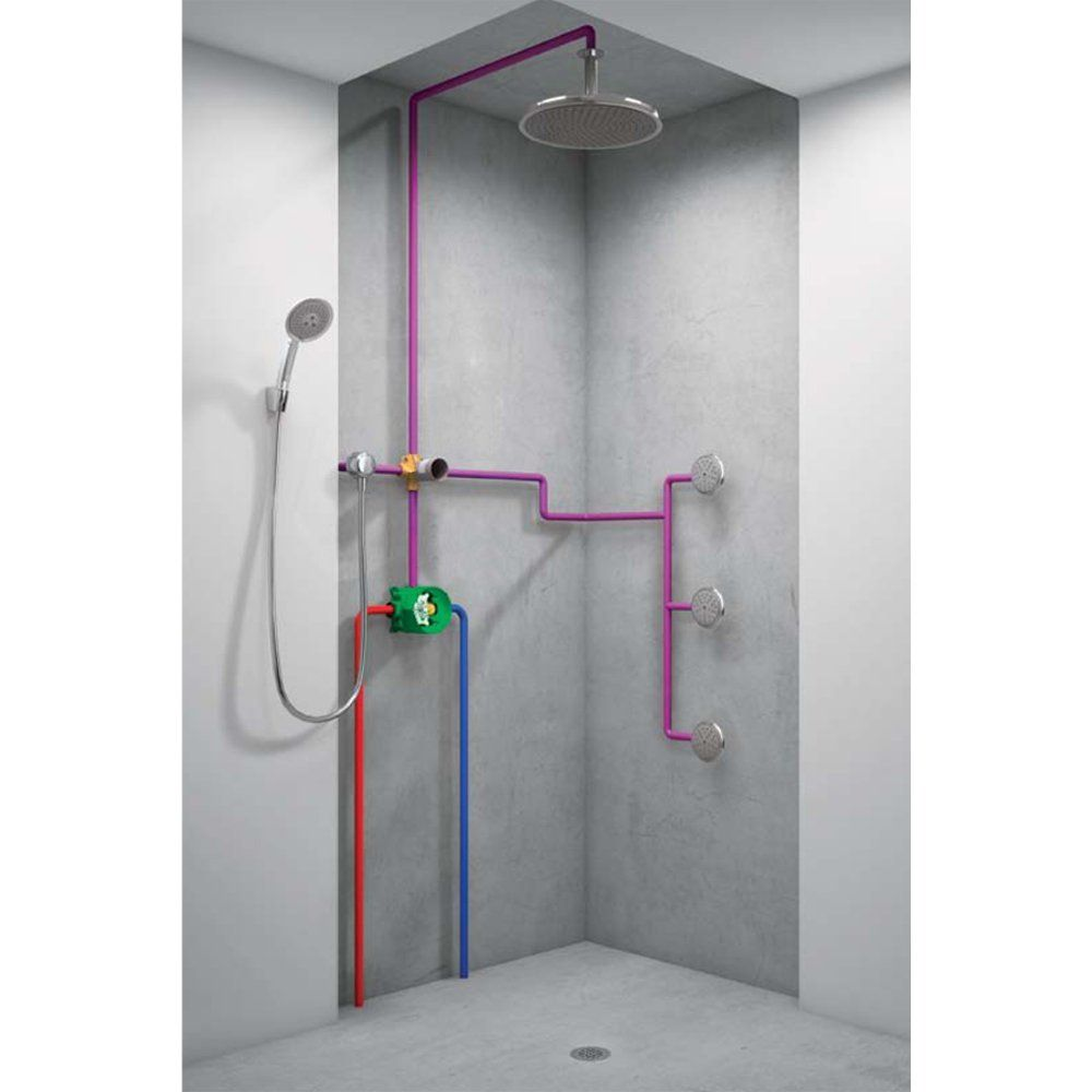 Hansgrohe 15930181 Quattro 3 Way Diverter Valve Bathtub And