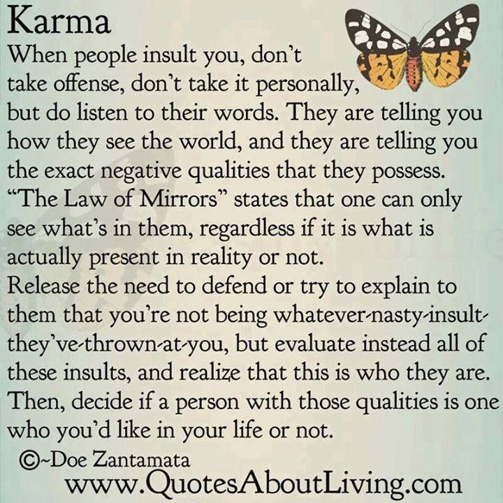Karma What Goes Around Comes Around What Goes Up Must Come Down