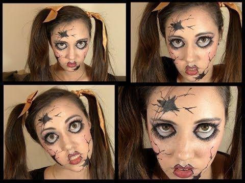 Disfraz Facil De Halloween Muñeca De Porcelana Rota Creepy Broken Doll Youtube Halloween Disfraz Facil Maquillaje Muñeca Diabolica Disfraz Muñeca Diabolica