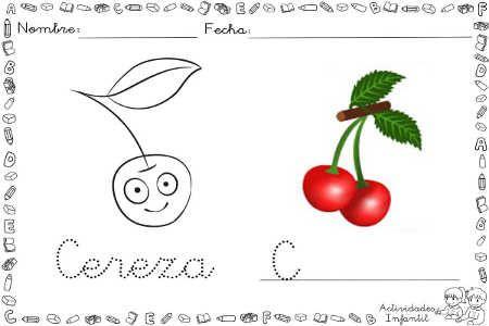 cereza divertido para colorear | Faenetes | Pinterest | Cerezas ...