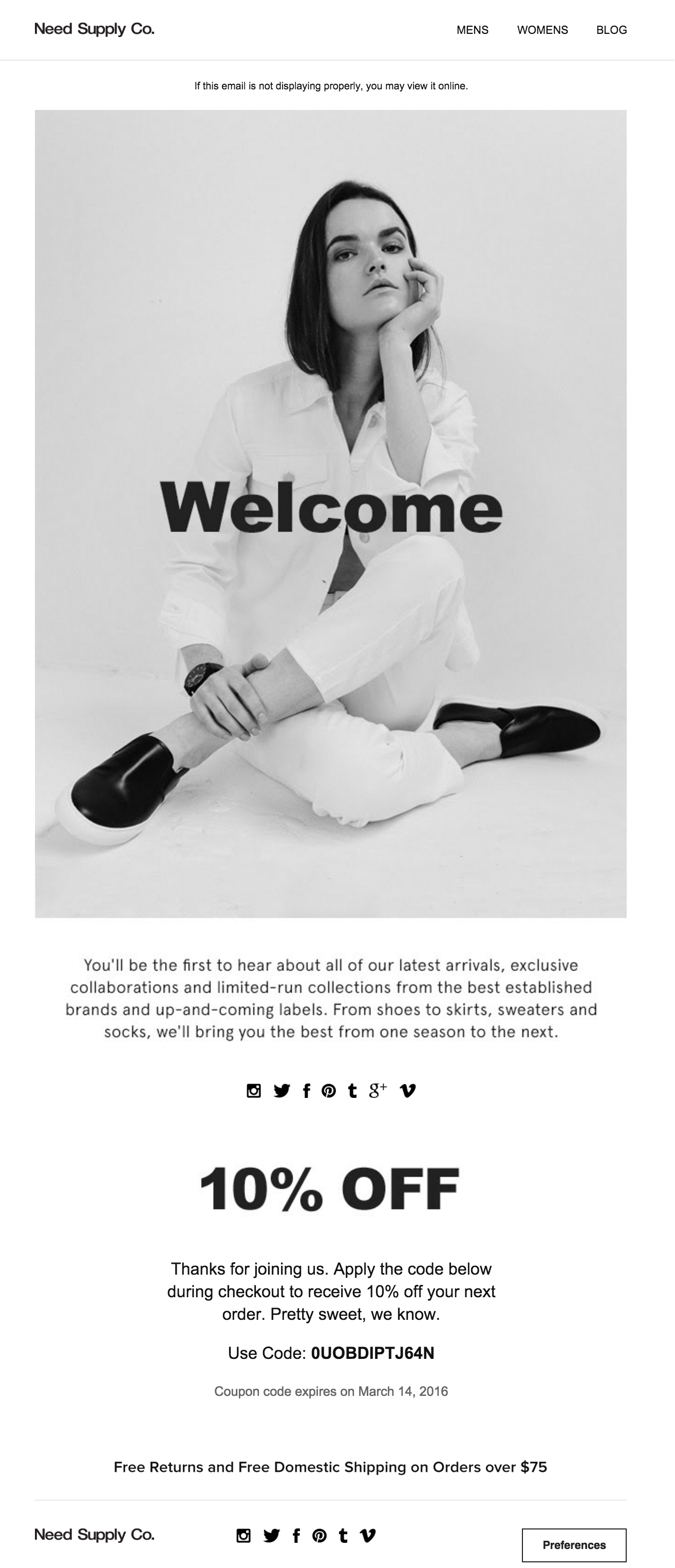RH Mail - Welcome | EDM | Pinterest | Email design, Email marketing ...