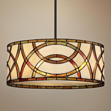 Art Glass Circles Tiffany Style Pendant Chandelier Dining Or