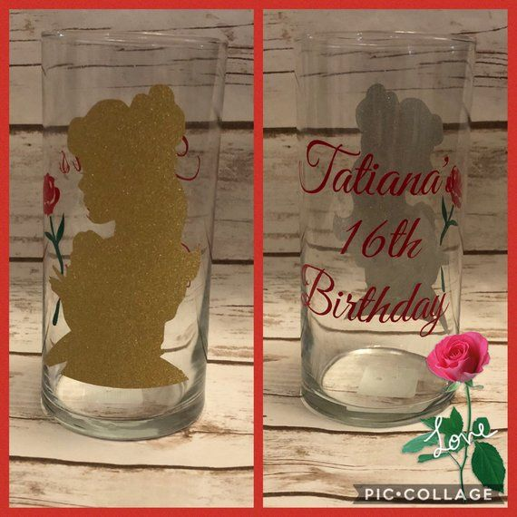 Personalised Wedding//Civil Ceremony Unity Candle Set Disney Beauty and the Beast