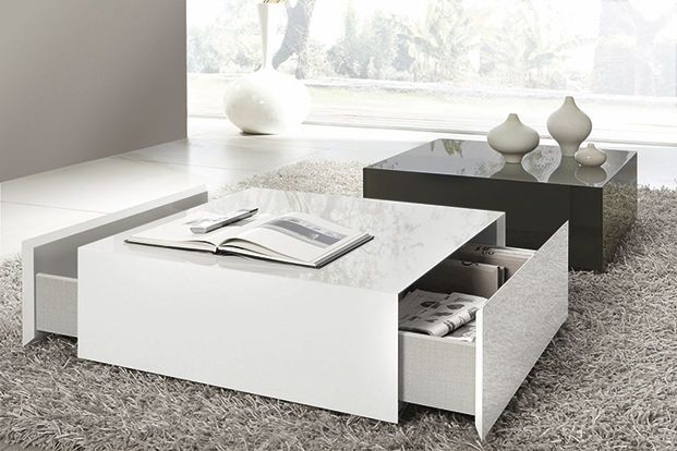 Inspirant Table Basse Carree Avec Tiroir Centre Table Living Room Square Ottoman Coffee Table Coffee Table Square