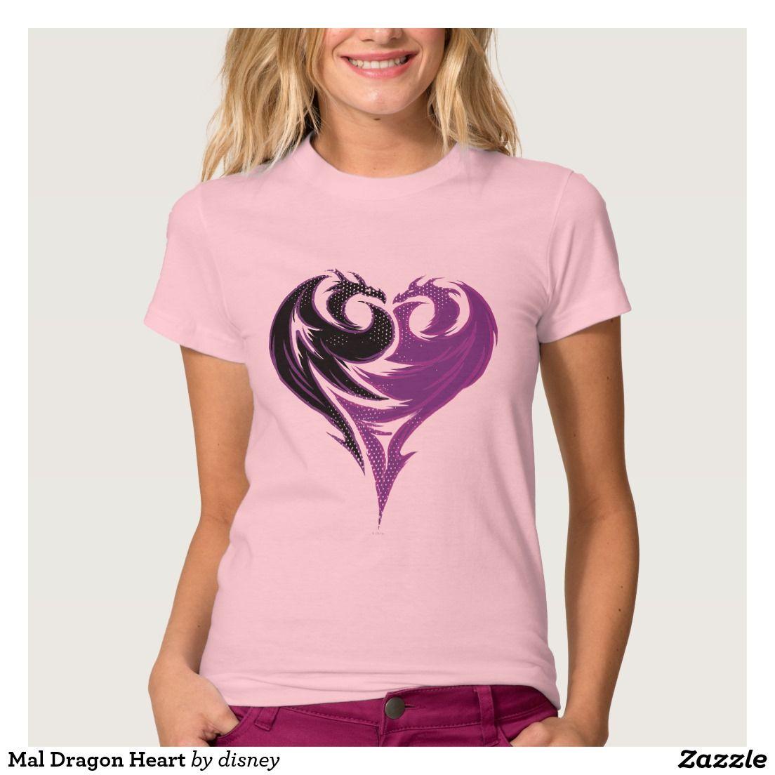 Zazzle t shirt design size - Mal Dragon Heart T Shirt