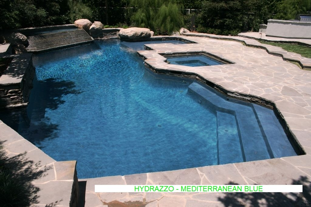 pools with hydrazzo Pacific Blue finish Pool Finishes