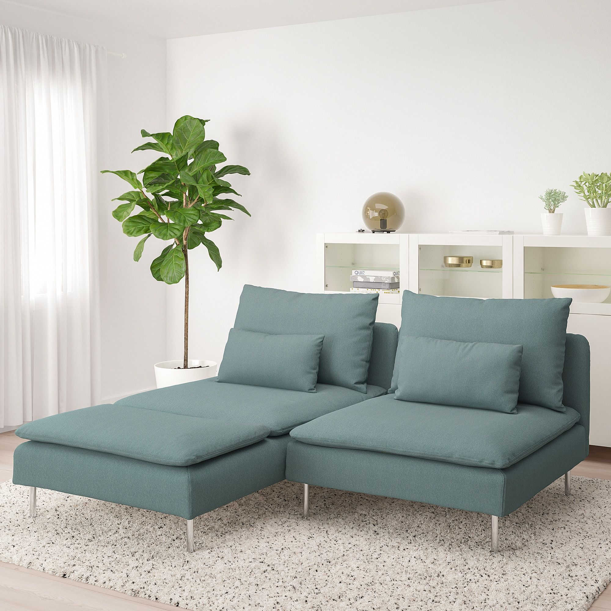 Soderhamn Loveseat With Chaise Finnsta Turquoise Canape Modulable Ikea Canape 2 Places Canape