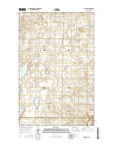 ~ Camp Lake ND topo map, 1:24000 scale, 7.5 X 7.5 Minute, Current, 2014