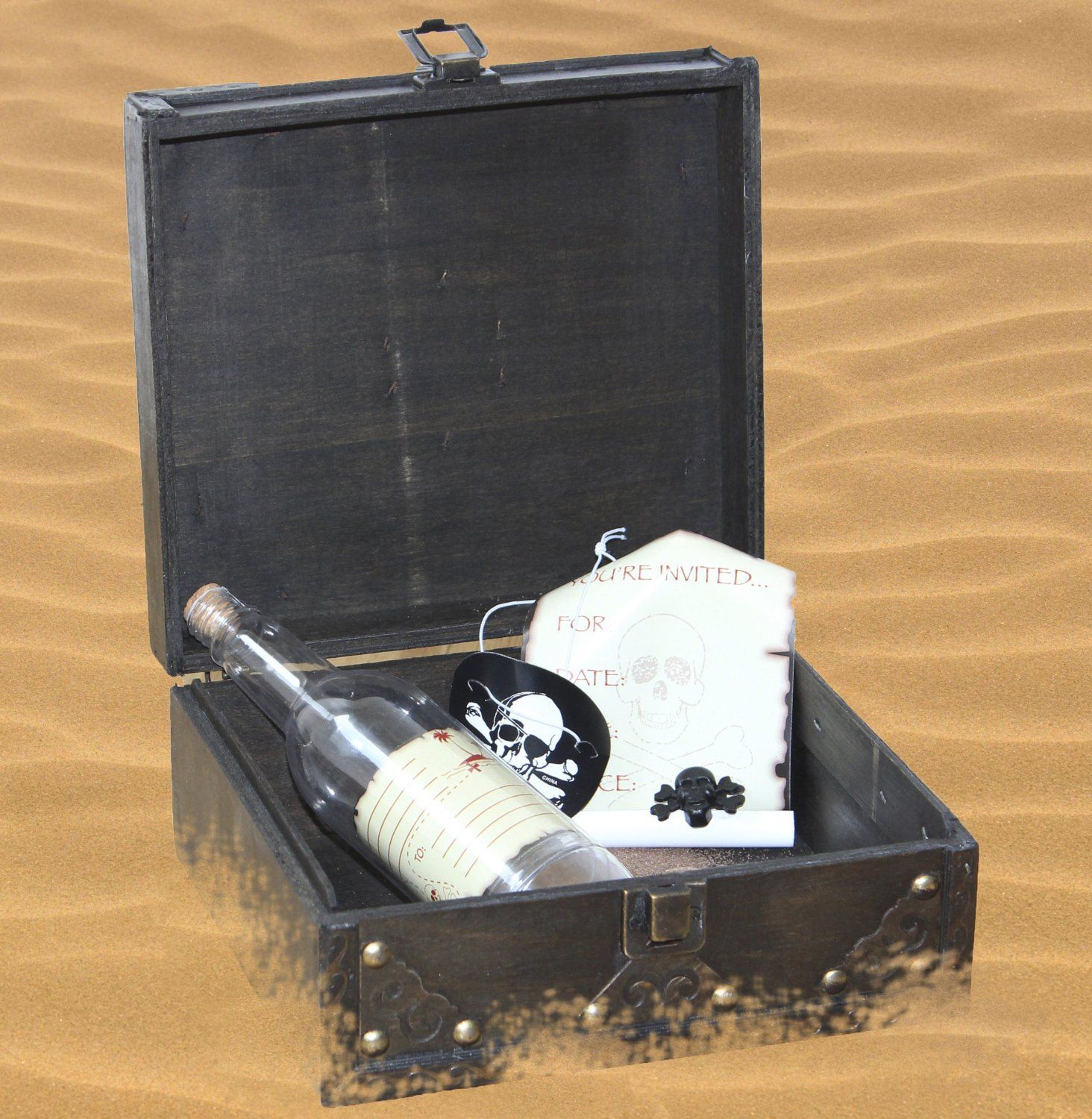 Amazon.com: Pirate Party Invitation Message in a Bottle with ...