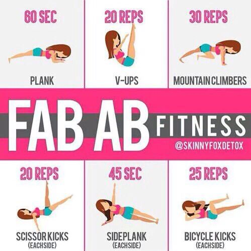 fab ab fitness  fun workouts abs workout calorie workout