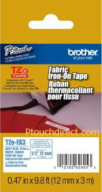 Brother TZe-FA3 1/2 In  Fabric Iron-On P-touch Tape