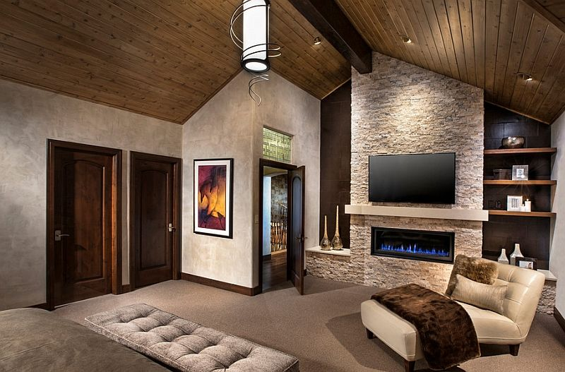 TV Above Fireplace Design Ideas Bedrooms Fireplace design and