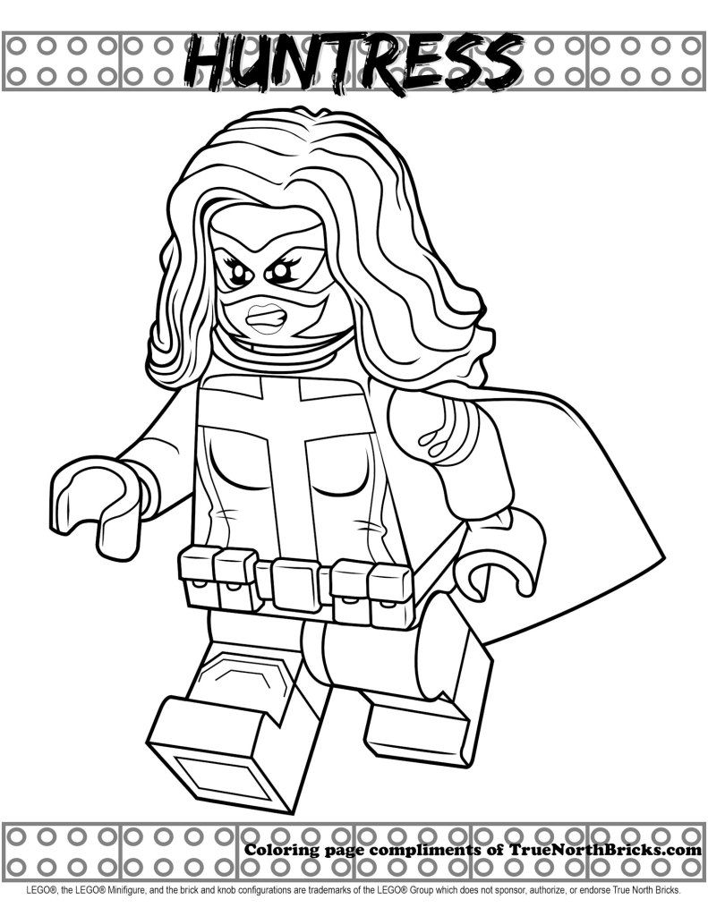Huntress Coloring Page In 2020 Coloring Pages Free Lego